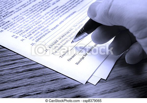 Signing Contract - csp8379065