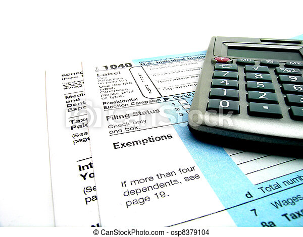 Tax Forms - csp8379104