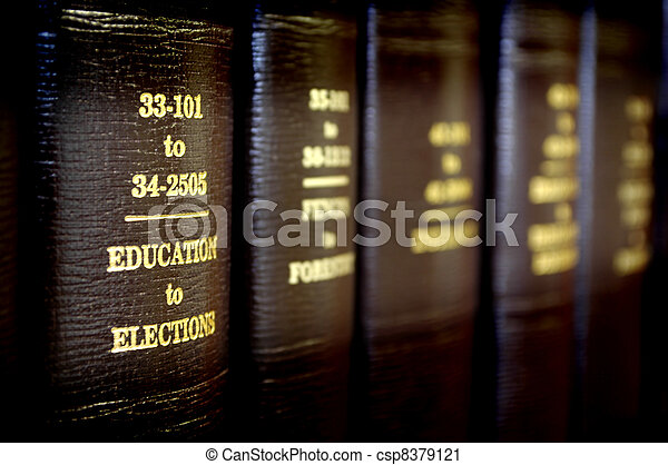 Law Books in a Row - csp8379121