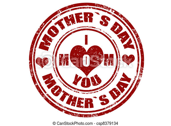 Mother's day stamp - csp8379134