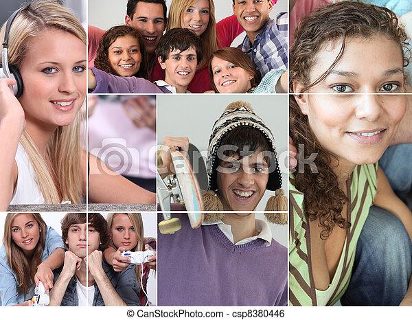 Free time of Teens - csp8380446