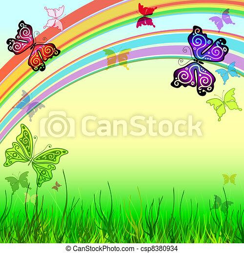 Spring vivid background - csp8380934
