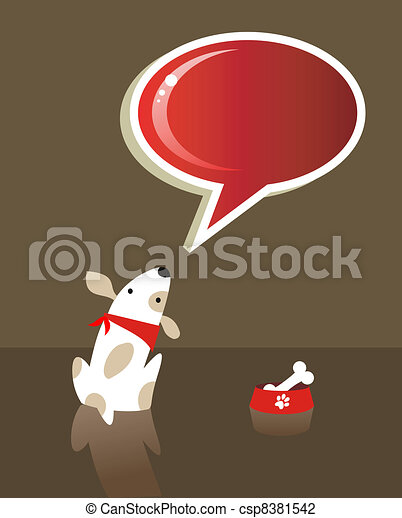Speech bubble and dog - csp8381542