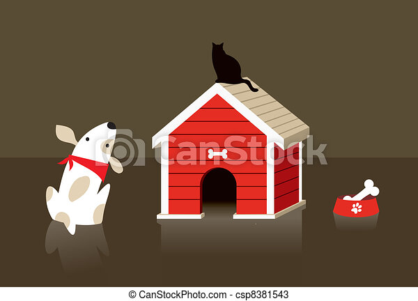 The dog and cat relation - csp8381543