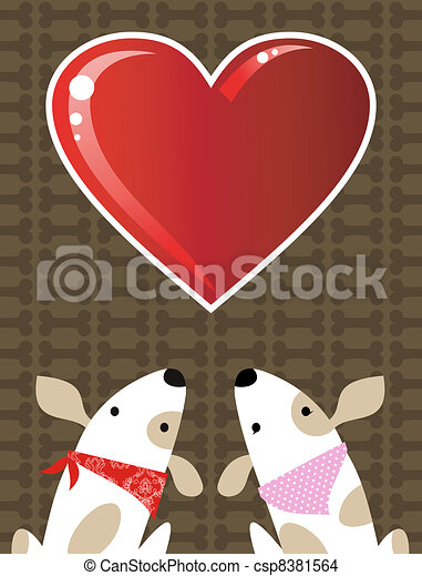 Valentines dog love background - csp8381564