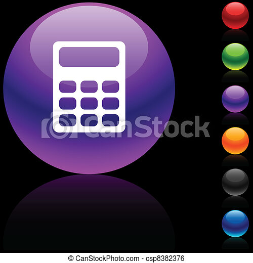 Calculate  icon. - csp8382376