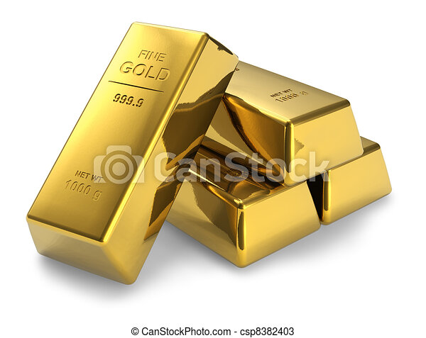 Gold bars - csp8382403