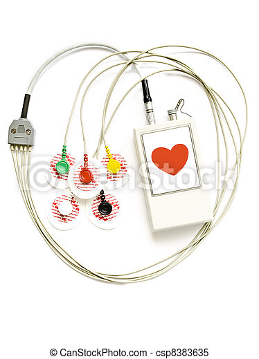 Holter monitor, diurnal rhythm ECG - csp8383635