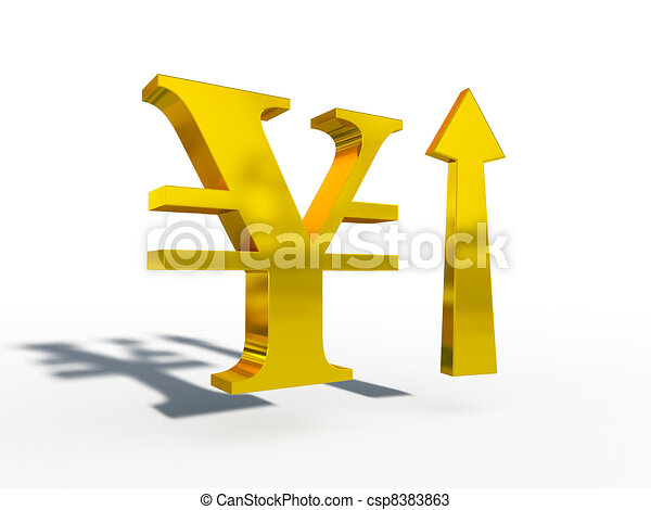 JPY Japanese yen up down course 3d - csp8383863