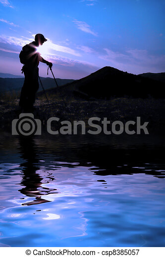 Hiking Reflection - csp8385057