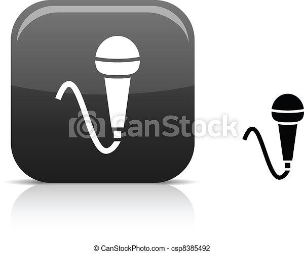 Mic icon. - csp8385492