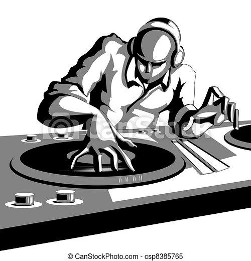 Disco Jockey - csp8385765
