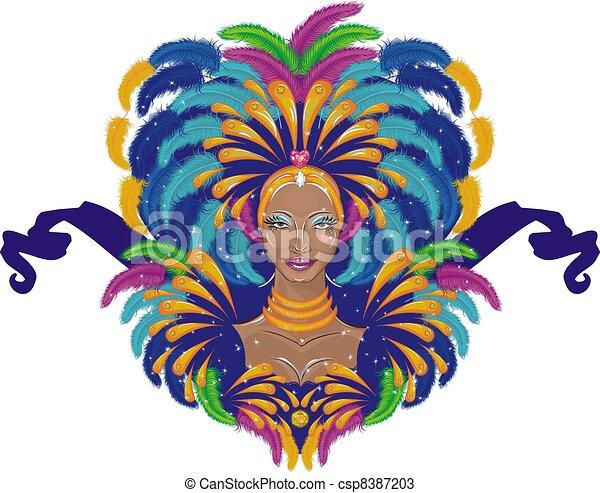 Beautiful carnival girl - csp8387203