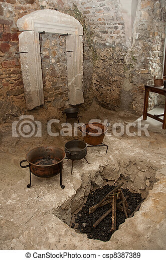 ancient kitchen room