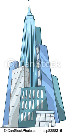 Cartoon Skyscraper - csp8388316