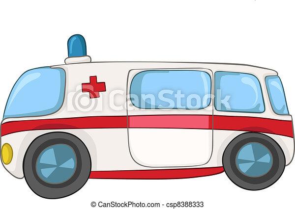 Cartoon Emergency Car - csp8388333