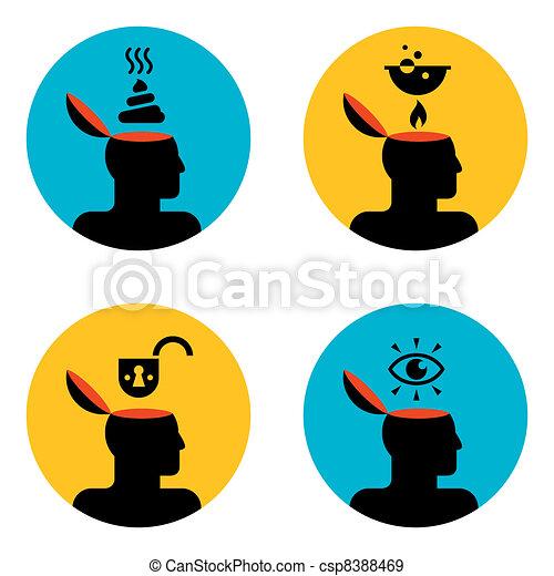 icons of head - csp8388469