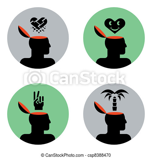 icons of head - csp8388470