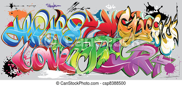 graffiti wall - csp8388500