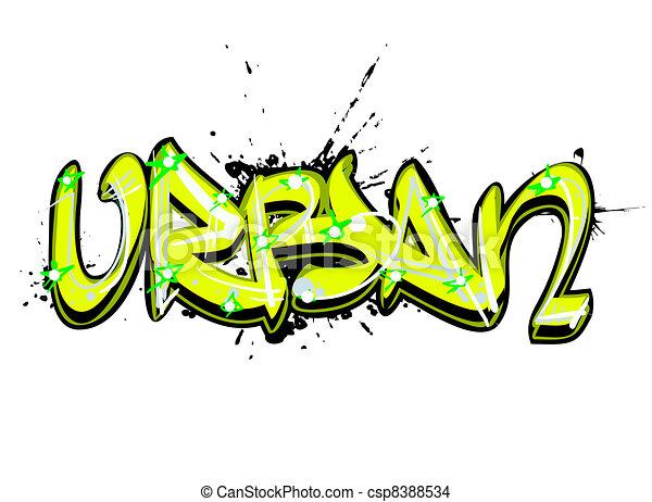 Graffiti urban art - csp8388534