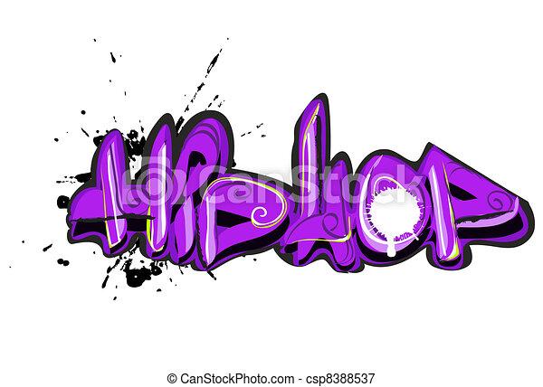 Graffiti urban art - csp8388537