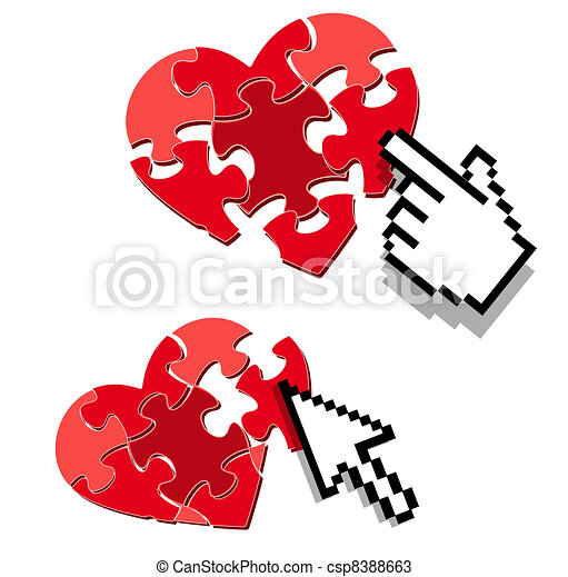 internet love or dating search symbol - csp8388663