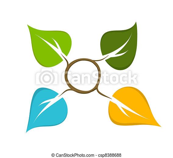 Four Seasons Abstract Icon - csp8388688