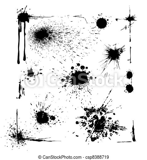 Ink Blots Set - csp8388719