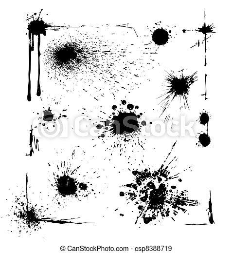 Ink Blots Set - csp8388719