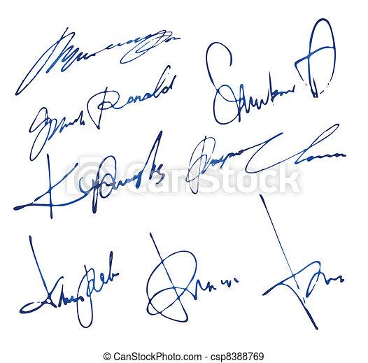 Personal Signatures Set - csp8388769