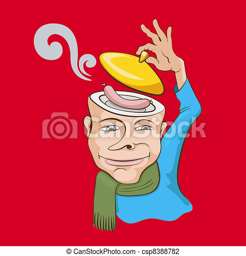 Creative graphic concept vector illustration. Ridiculous person - csp8388782