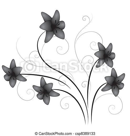 Lily Flourish - csp8389133