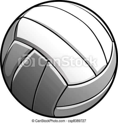 Volleyball Ball Vector Image Icon - csp8389727