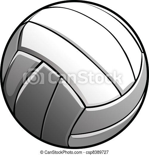 Volleyball Ball Vector Image Icon - csp8389727