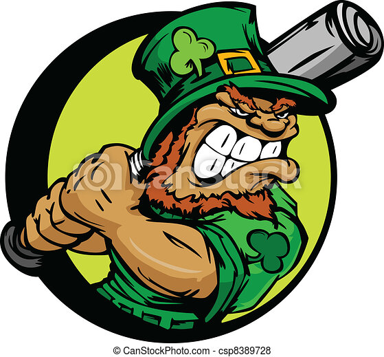 St. Patricks Day Leprechaun Holding - csp8389728