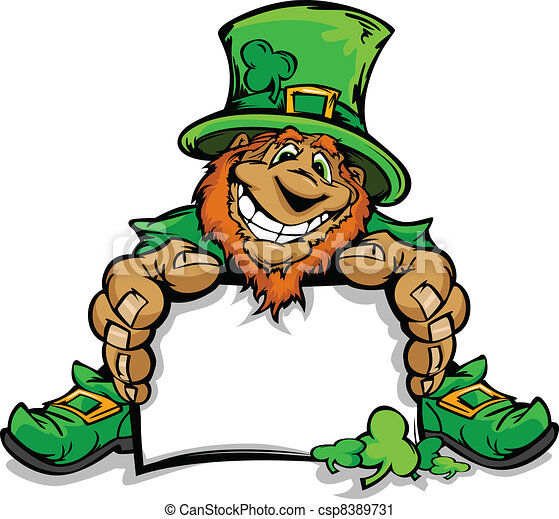 Smiling St. Patricks Day Leprechau - csp8389731