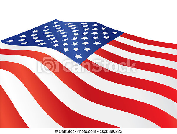 United States of America flag - csp8390223