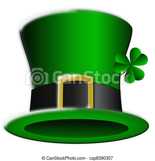 Stock Illustrations of Saint Patricks Day Leprechaun Hat ...