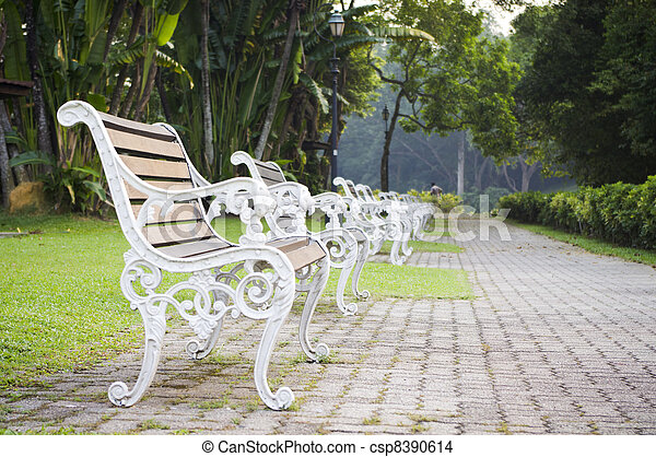 bench witn nobody - csp8390614