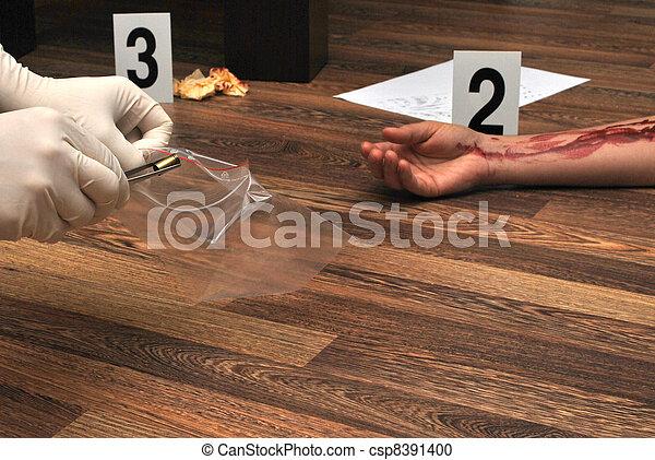 謀殺, 地方 - csp8391400
