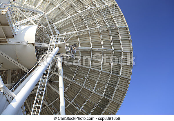 Radar dish with blue sky - csp8391859