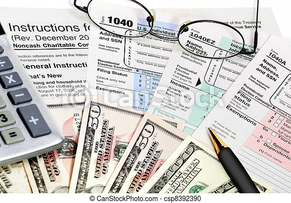 Tax forms 1040. - csp8392390