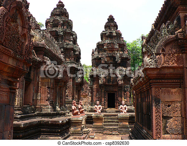 Ancient temple in Cambodia. - csp8392630