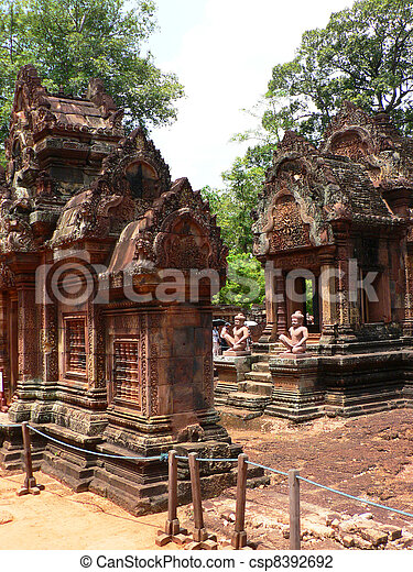 Ancient temple in Cambodia.  - csp8392692
