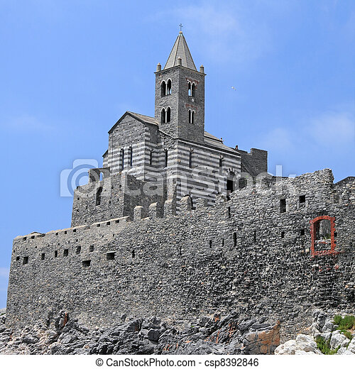Church of St. Peter, Porto Venere, Liguria, Italy - csp8392846