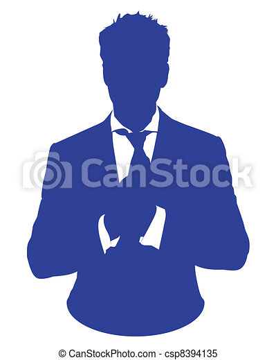 business man suit avatar - csp8394135