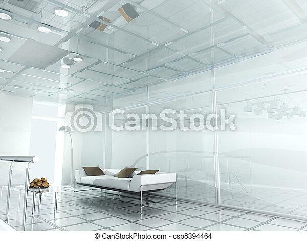 new modern office 3d  - csp8394464