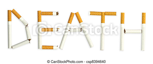 "A word ""death"", made of cigarettes - csp8394640"