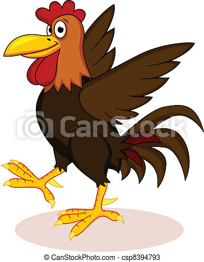 Rooster cartoon - csp8394793