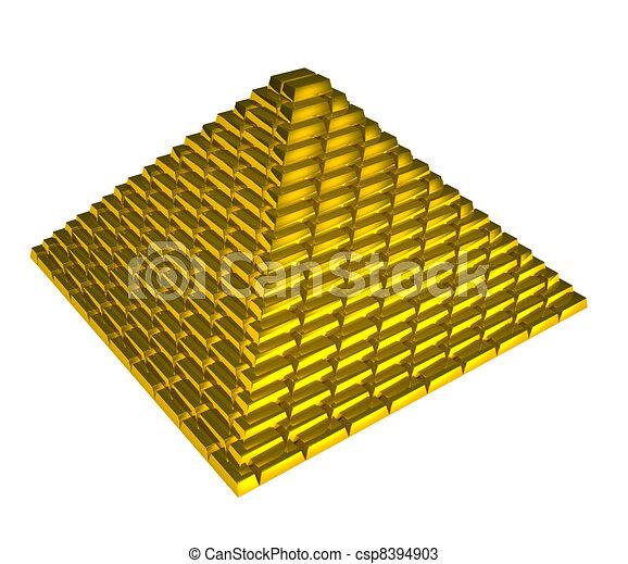 Dessins de pyramide or lingots or briques pyramide - Dessin de pyramide ...